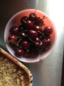 Sweet cherries.  Ripe for ice cream.